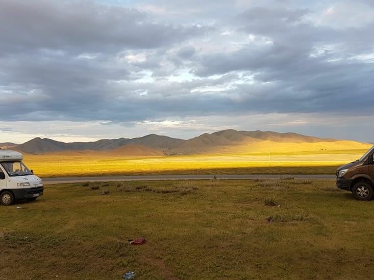 Des couleurs etonnantes au coucher du soleil.