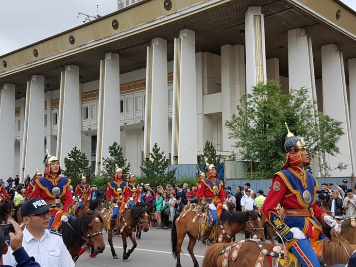 La parade d'honneur part pour le stade