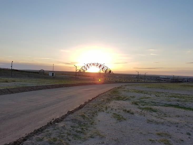 Couche de soleil depuis notre bivouac