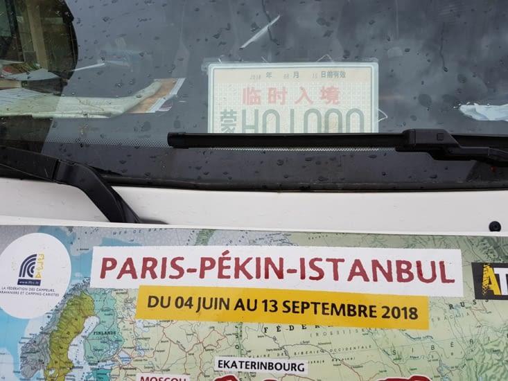 Nouvelle plaque d'immatriculation du Camping Car!