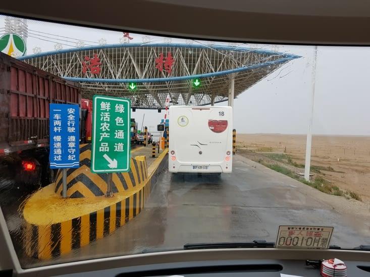 Péage autoroutier en Chine