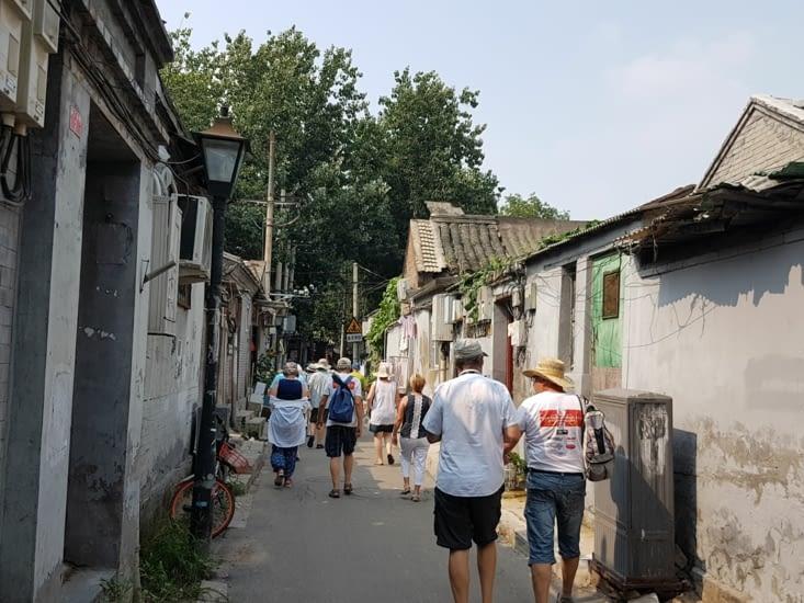 Visite du quartier ancien composé de hutong
