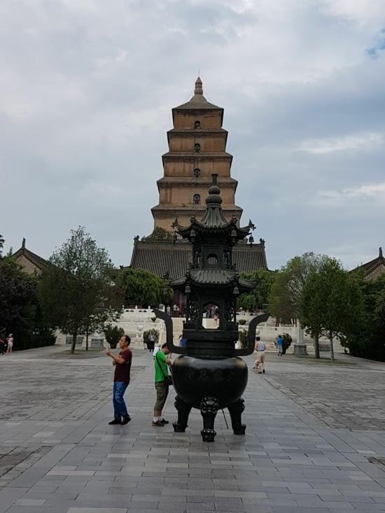 La pagode des oies sauvages en l'honneur d'un grand moine qui a été jusqu'en Inde