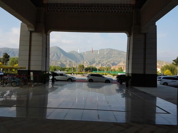 Photo depuis la hall de l'hôtel du camping