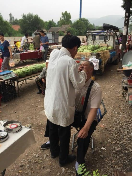 Arracheur de dents sur marché de Pingliang!