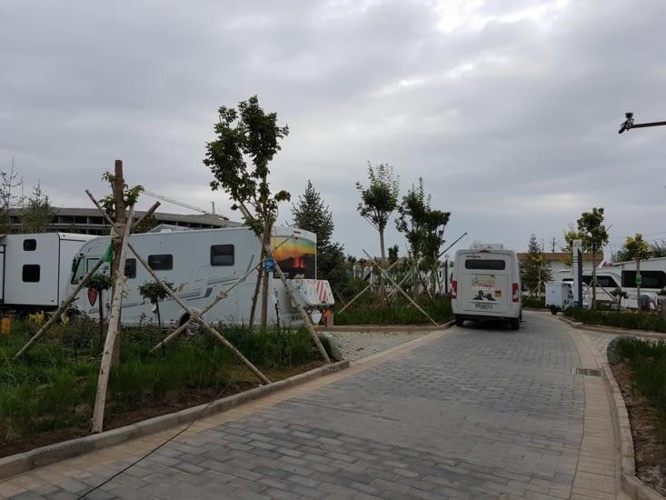 Emplacement au camping de Zhangye