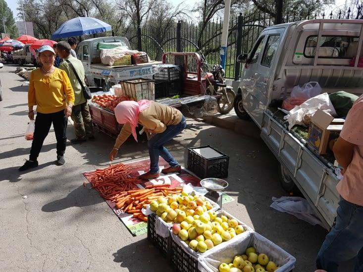 Le marché de Zhangye était très bien achalande.