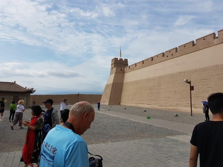 Fort marquant la fin de la Grande Muraille de Chine a Jiayuguan