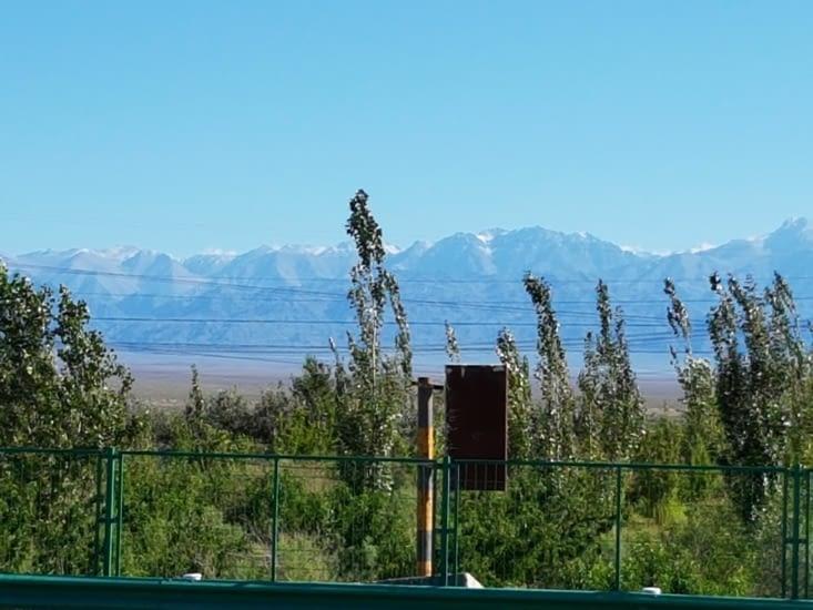 Des neiges eternellesexterne sur des sommets à + de 5000m en limite de la Mongolie