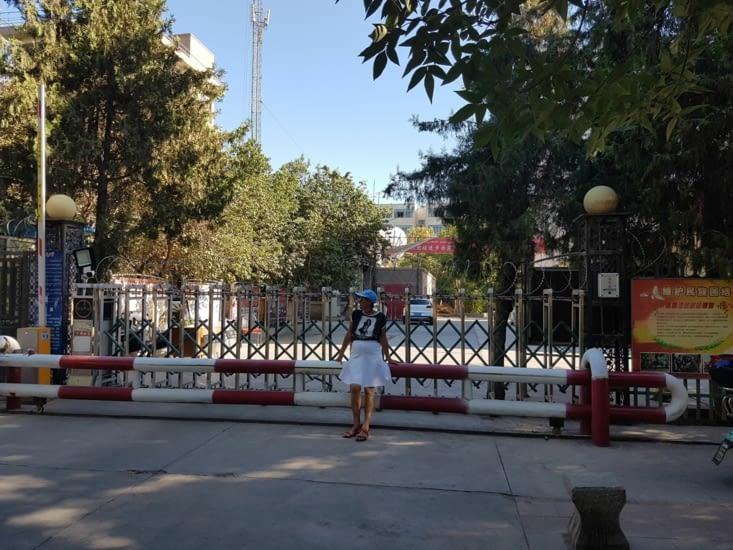Les contrôles de Police sont toujours impressionnant dans la Region Ouigur: ici devant un