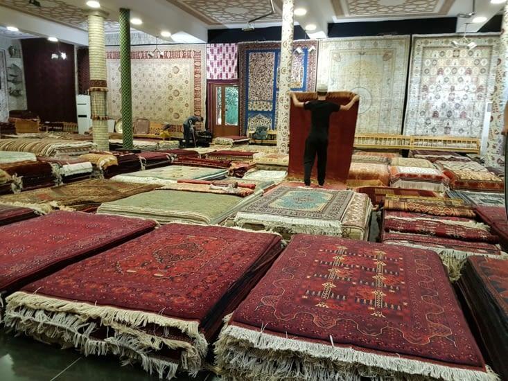 Magasin de tapis de Boukhara