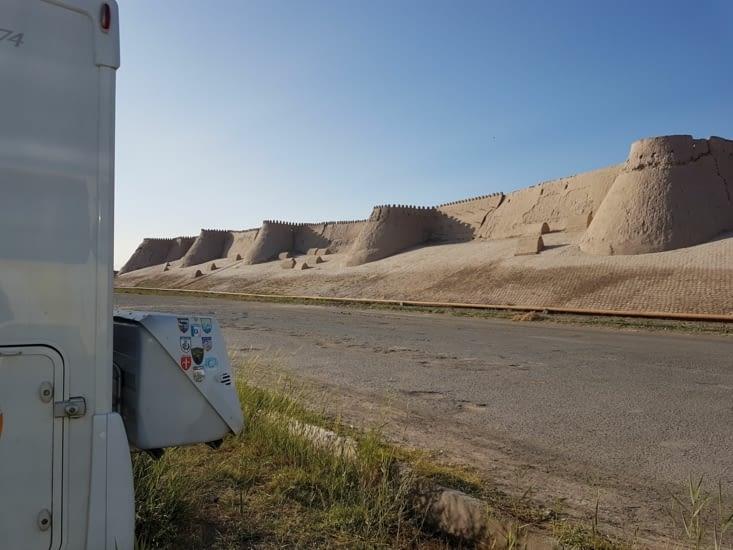 Vue de notre bivouac à Khiva