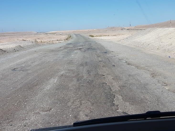 La route est toujours aussi mauvaise