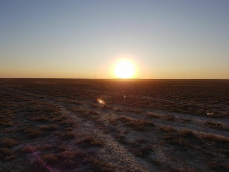 Levé du soleil sur notre bivouac