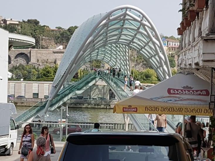 Pont pour les piétons très design