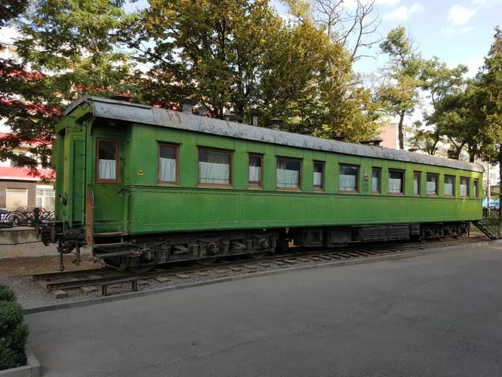 Le wagon du train de Staline pour aller à Yalta