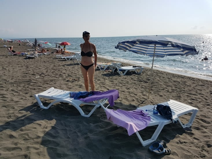 Notre premier bain sur la mer Noire