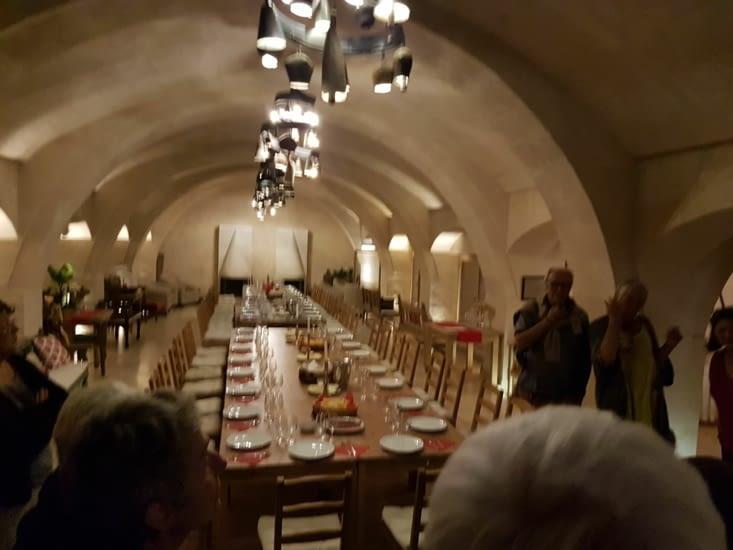 Repas offert par un des équipages Suisse