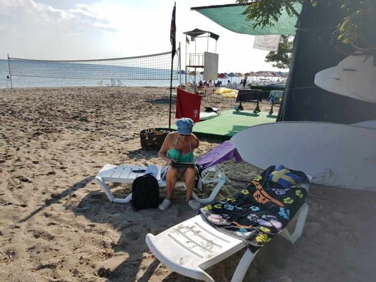 Moment de détente à la plage