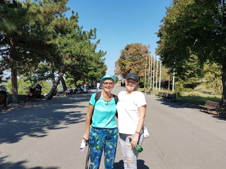 Une charmante habitante de Belgrade nous a proposé de nous faire visiter sa ville