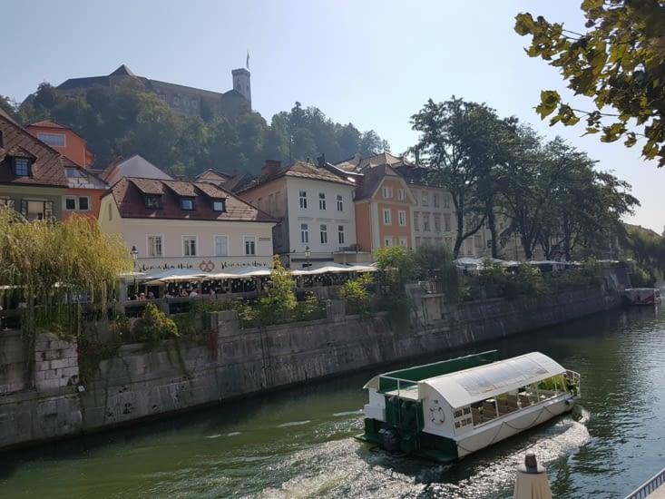 La rivière Ljublanica qui traverse la ville
