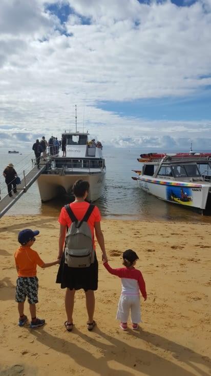 Notre bateau pour l'excursion de la journée.