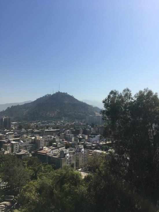 Vue de Santiago depuis San lucia