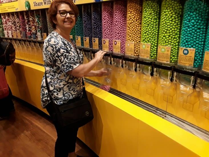 Le distributeur de bonbons m&ms