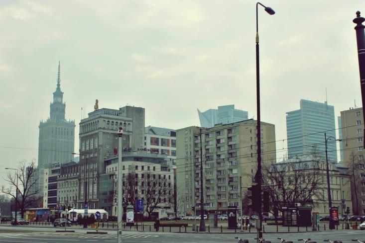 La vue en arrivant dans Varsovie