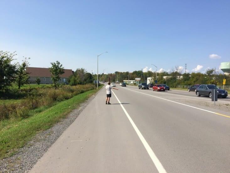 Auto-stop avec un Suédois rencontré à la sortie d'Ottawa