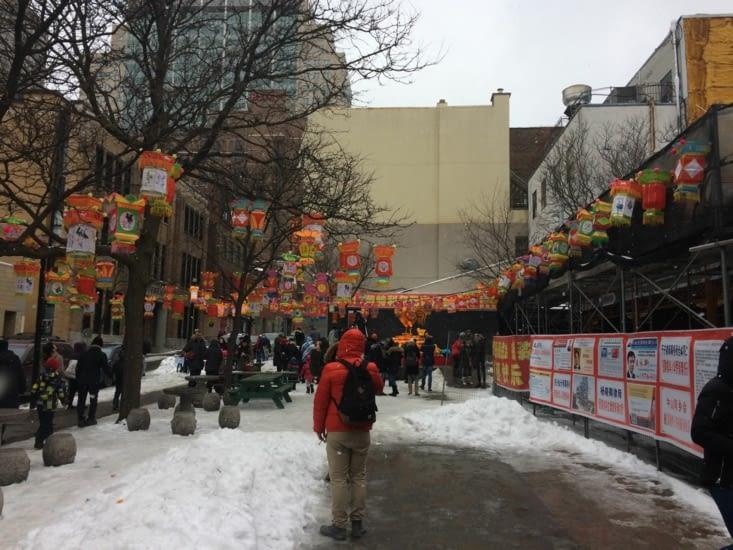 Célébration du nouvel an chinois, place Sun Yat-Sen