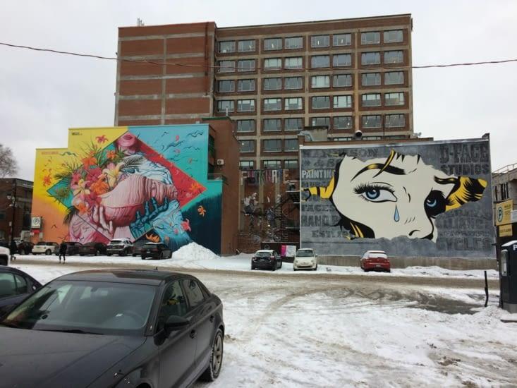 Peintures à proximité du Boulevard Saint Laurent