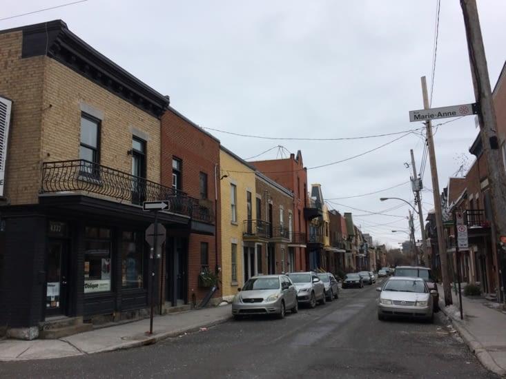 Rue résidentielle de Montréal