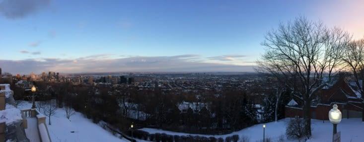 Vue panoramique de Montréal depuis Westmount