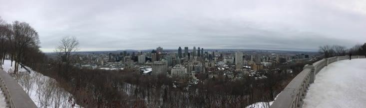 Vue panoramique depuis le belvédère du mont Royal