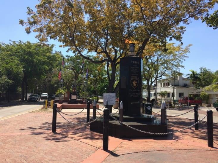 L'entrée du Cuban Memorial Boulevard Park