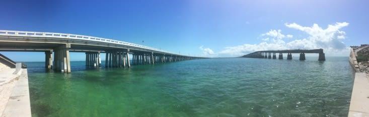 Vue panoramique sur la route des Keys
