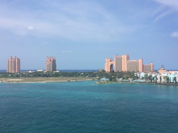 Atlantis Paradise Island, vu depuis l'un des ponts