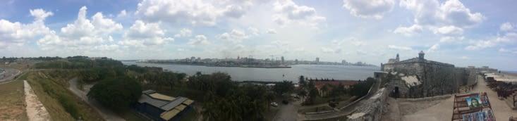 La Havane vue depuis El Castillo De Los Tres Reyes Del Morro