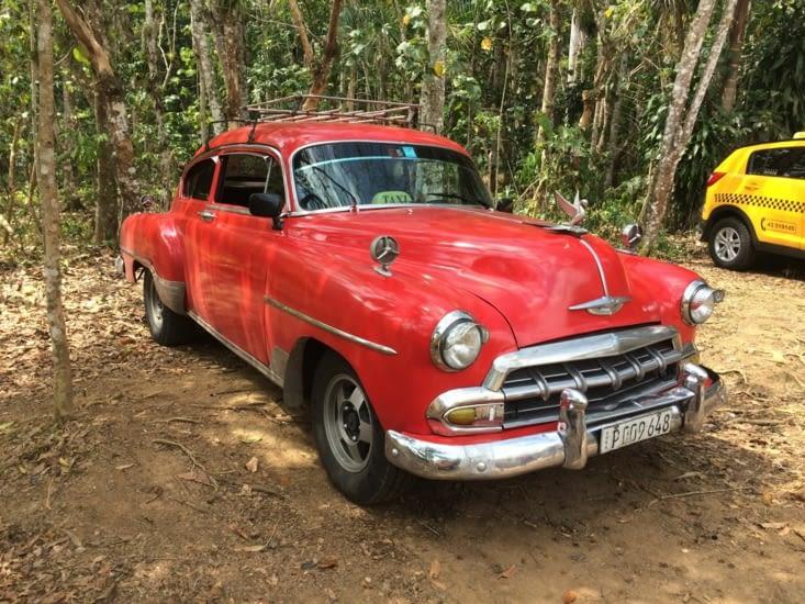 Mon premier taxi collectif, entre Cienfuegos et Trinidad