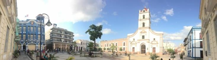 Vue panoramique sur la Plaza de los Trabajadores
