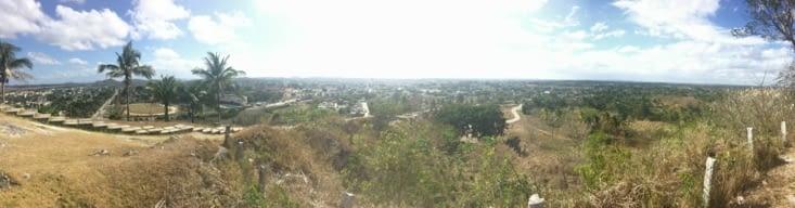 Vue panoramique depuis la colline del Capiro