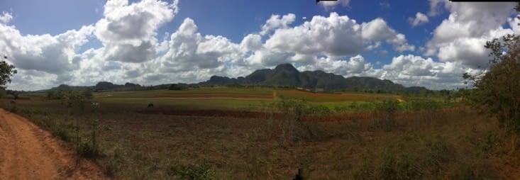Vue panoramique sur la Vallée de Viñales