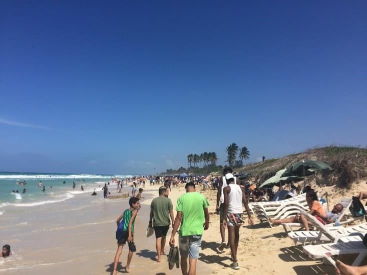 Tout Cuba s'était donné rendez-vous sur cette plage !