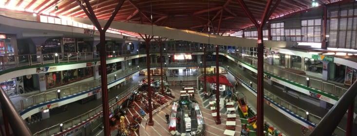 Vue panoramique sur le centre commercial Plaza Carlos III