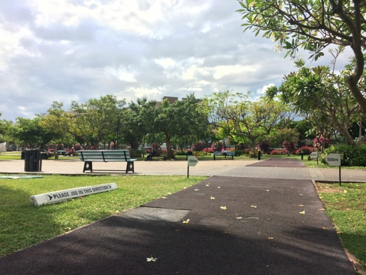 La piste de jogging de l'Emancipation Park