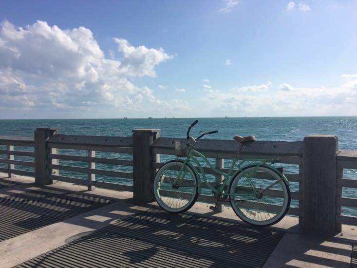 Mon magnifique vélo, avec, au loin, Stiltsville