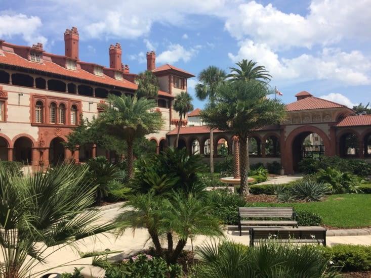 La cour intérieure du Flagler College