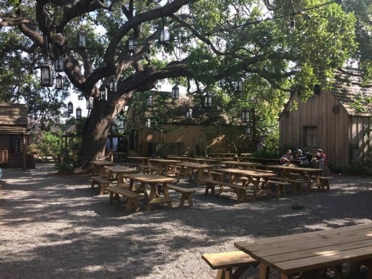 L'arrière-cour du bar Pescadito