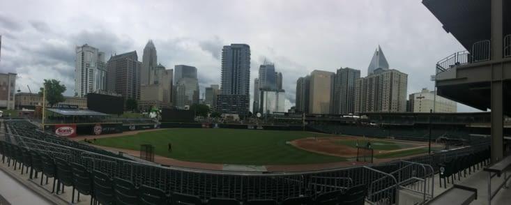 Vue panoramique sur le BB&T Ballpark